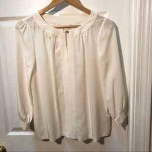 Kate Spade Silk ivory off white blouse top